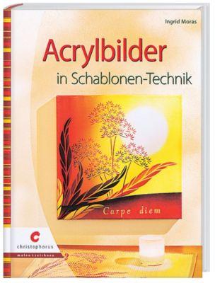 Acrylbilder in Schablonen-Technik, Ingrid Moras